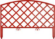 GRINDA 28х320 см, терракот, забор декоративный ПЛЕТЕНЬ 422207-T