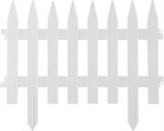 GRINDA 28х300 см, белый, забор декоративный КЛАССИКА 422201-W