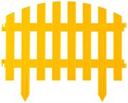 GRINDA 28х300 см, желтый, забор декоративный АР ДЕКО 422203-Y