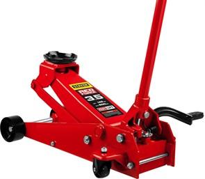 """Домкрат гидравлический подкатной """"RED FORCE"""", с педалью, 3,5т, 145-500мм, STAYER 43155-3.5"""