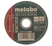 Круг отрезной по нержавеющей стали (125 x 1.6 x 22,2 мм) SP-Novorapid RU Metabo 617178000