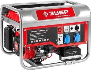 ЗУБР, бензиновый генератор с электростартером, 2800 Вт