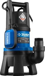 Насос Т3 погружной, ЗУБР Профессионал НПГ-Т3-1300, дренаж. для грязной воды (d частиц до 35мм), 1300Вт,пропуск способн 420л/мин,напор 11м,провод 10м