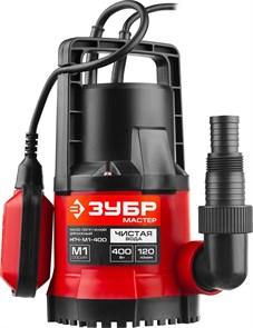 ЗУБР НПЧ-М1-400 дренажный насос с минимальным уровнем откачки, 400 Вт