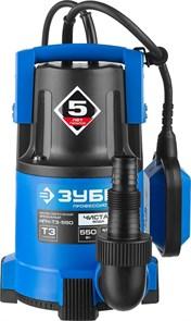 ЗУБР 550 Вт, 185 л/мин, насос погружной дренажный для чистой воды НПЧ-Т3-550 Профессионал