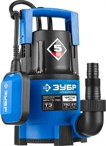 ЗУБР Профессионал НПЧ-Т3-750 дренажный насос с минимальным уровнем откачки, 750 Вт
