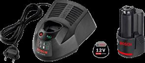 BOSCH Аккумулятор Li-ion 1 x 12 В; 2,0Ah + 1 x GAL1230CV, набор батарей аккумуляторное Li-Ion + ЗУ, 1600Z00041