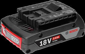 BOSCH Аккумулятор Li-ion 18 В; 3,0 Ач, батарея аккумуляторная Li-Ion, 1600A012UV