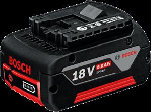 BOSCH Аккумулятор Li-ion 18 В; 5,0 Ач, батарея аккумуляторная Li-Ion, 1600A002U5