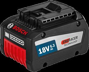 BOSCH Аккумулятор Li-ion 18 В; 6,3 Ач, батарея аккумуляторная Li-Ion, 1600A00R1A