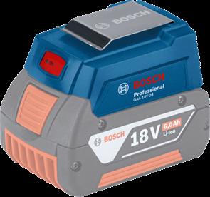 BOSCH GAA 18V-24, USB-переходники для зарядки на аккумулятор Li-ion 18 В, 1600A00J61