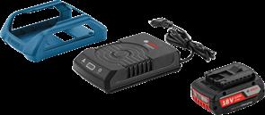BOSCH аккумулятор Li-ion 1 x 18 В; 2,0Ah + 1 x AL1830 W-UNI (БЕСПРОВОДНАЯ СИСТЕМА ЗАРЯДКИ), набор батарей аккумуляторное Li-Ion + ЗУ, 1600A003NA