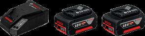 BOSCH аккумулятор Li-ion 18 В; 5,0 Ач + GAL 1880 CV, зарядное устройство аккумуляторное Li-Ion, 1600A00B8J