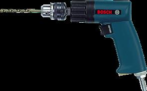 BOSCH дрель 6 мм, ЗВП, реверс, пневматическая, 0607160511