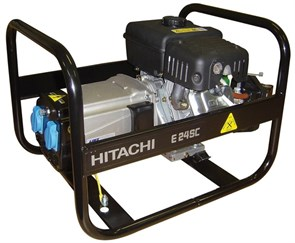 HITACHI E24SC, генератор (181см3, 220В, 2.4кВт, 3,8л;