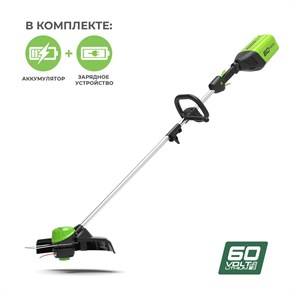 Greenworks GD60LT, триммер аккумуляторный