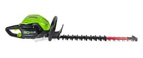 Кусторез аккумуляторный Greenworks GD80HT, 80V, 61 см, бесщеточный, без АКБ и ЗУ