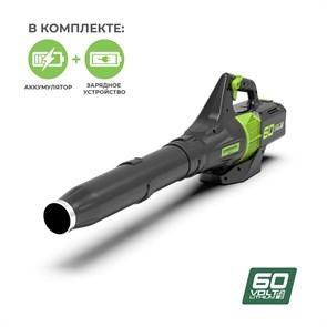 Greenworks GD60ABK4, воздуходув аккумуляторный
