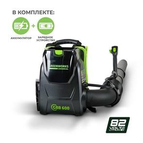 Greenworks GC82BPBK5, воздуходувка ранцевая аккумуляторная