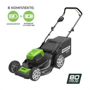 Газонокосилка аккумуляторная Greenworks GD80LM46K4
