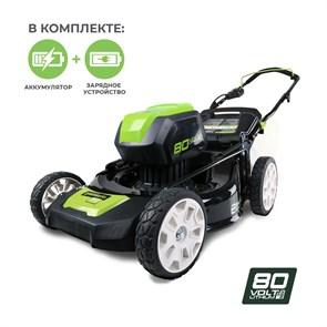 Газонокосилка аккумуляторная Greenworks GD80LM51K4