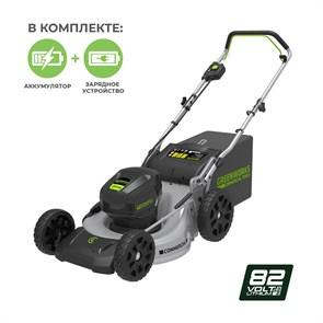 Greenworks GC82LM46K5, газонокосилка аккумуляторная, с 1хАКБ 5 А.ч. и ЗУ