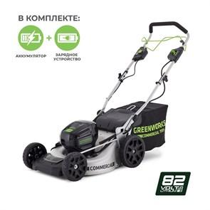 Greenworks GC82LM51K5, газонокосилка аккумуляторная, с 1хАКБ 5 А.ч. и ЗУ