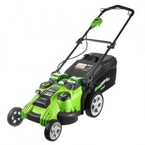 Greenworks G40LM49DBK6, TwinForce, газонокосилка аккумуляторная