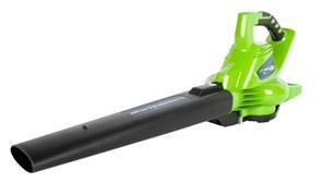 Воздуходув-Садовый Пылесос аккумуляторный Greenworks GD40BVK3, 40V, бесщеточный, с 1хАКБ 4 А.ч и ЗУ
