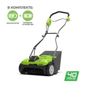 Greenworks G40DT30K4, аэратор аккумуляторный