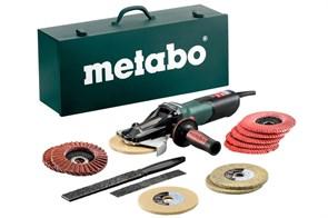 Metabo WEVF 10-125 Quick Inox Set Угловые шлифовальные машины с плоским редуктором, 613080500