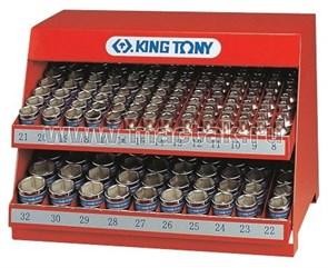 """Стенд с торцевыми головками 1/2"""", 8-32 мм, серия 4335M, 172 предмета KING TONY 4572MR"""