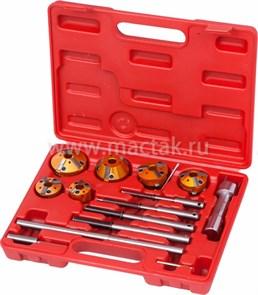 Набор фрез для правки седел клапанов, 28-65 мм, кейс, 14 предметов МАСТАК 103-13014C