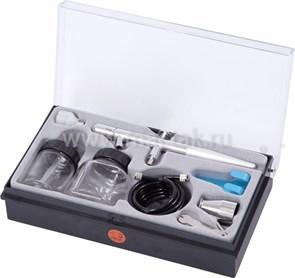 Аэрограф, сопло 0,3 мм, комплект принадлежностей, 8 предметов МАСТАК 678-108