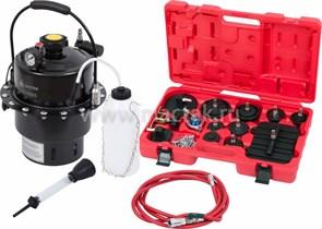 Набор приспособлений для замены тормозной жидкости, 6 л, комплект крышек адаптеров, 17 предметов МАСТАК 102-40005