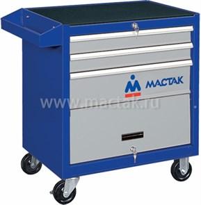 Тележка инструментальная, 3 ящика и отсек, синяя МАСТАК 522-03581B