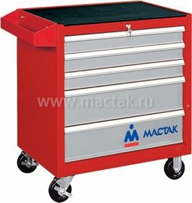 Тележка инструментальная, 5 ящиков, красная МАСТАК 521-05581R