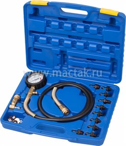 Манометр для измерения давления масла, 0-10 бар, комплект адаптеров МАСТАК 120-20010C