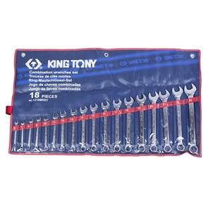 Набор комбинированных ключей, 6-24 мм, 18 предметов KING TONY 1218MR01