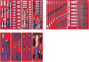 """Набор инструментов """"СТАНДАРТ"""" для тележки, 10 ложементов, 186 предметов МАСТАК 5-00186"""