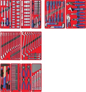 """Набор инструментов """"МАСТЕР"""" для тележки, 11 ложементов, 205 предметов МАСТАК 5-00205"""