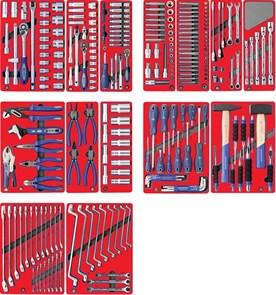 """Набор инструментов """"ЛИДЕР"""" для тележки, 14 ложементов, 270 предметов МАСТАК 5-00270"""