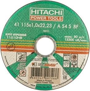 Диск отрезной по металлу (115х1,0х22,2 мм) Hitachi HTC-11510HR