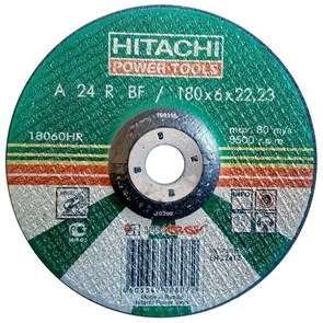 Диск шлифовальный по металлу Hitachi  18060HR, (180х22 мм)