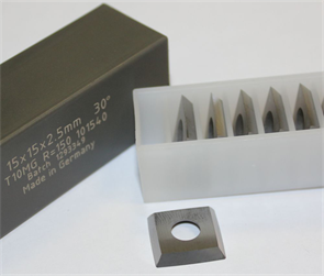 Комплект ножей HM 15,0x15,0x2,5мм, R150 для вала helical (10 шт.)