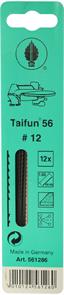 Пилки лобзиковые по дереву,Taifun 56 N9, 1,45x0,50х130мм, 11 TPI, 12шт.
