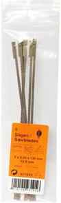 Пилки лобзиковые по дереву, со штифтами, 3,0х0,25х135мм, 25 TPI, 6шт.
