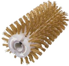 Брашировальная щетка валик Д130х250мм, ворс корд сталь латун. жгут 0,3 мм
