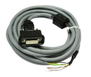 Разъем для кабеля DIMETIX RS422 с питанием до распределит. блока, 15 pin разъем IP65