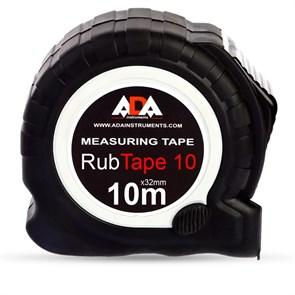 Рулетка ударопрочная ADA RubTape 10 с полимерным покрытием ленты (сталь, с двумя СТОПами, 10 м)